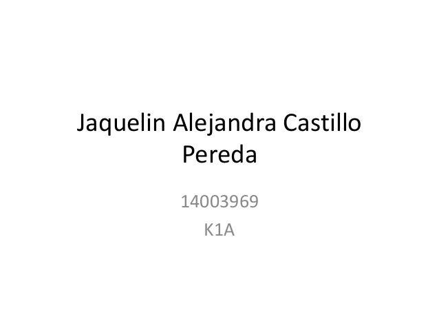 Jaquelin Alejandra Castillo Pereda 14003969 K1A