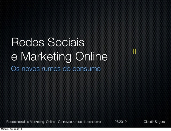 Redes Sociais                                                                               II           e Marketing Onlin...