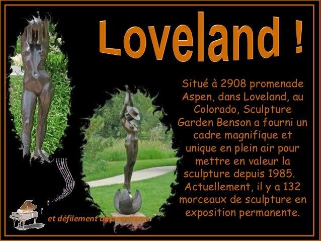 Situ� � 2908 promenade Aspen, dans Loveland, au Colorado, Sculpture Garden Benson a fourni un cadre magnifique et unique e...