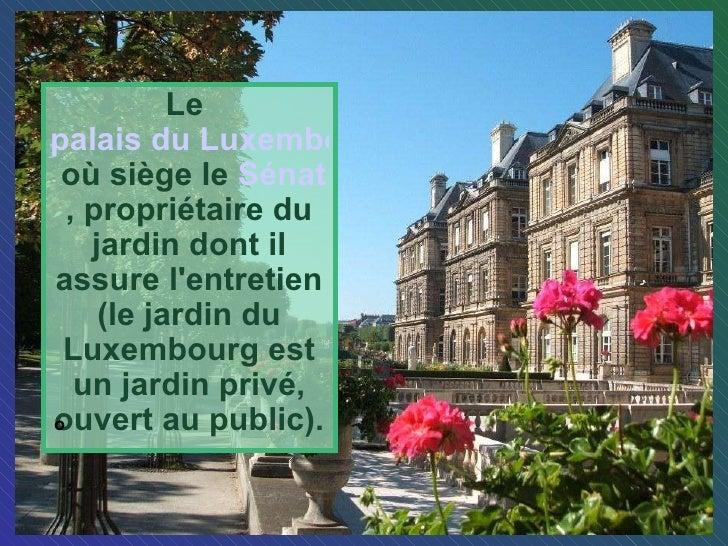 Le jardin du luxembourg for Entretien jardin luxembourg