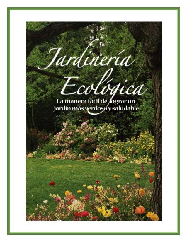 Jardiner a ecol gica for Jardineria ecologica
