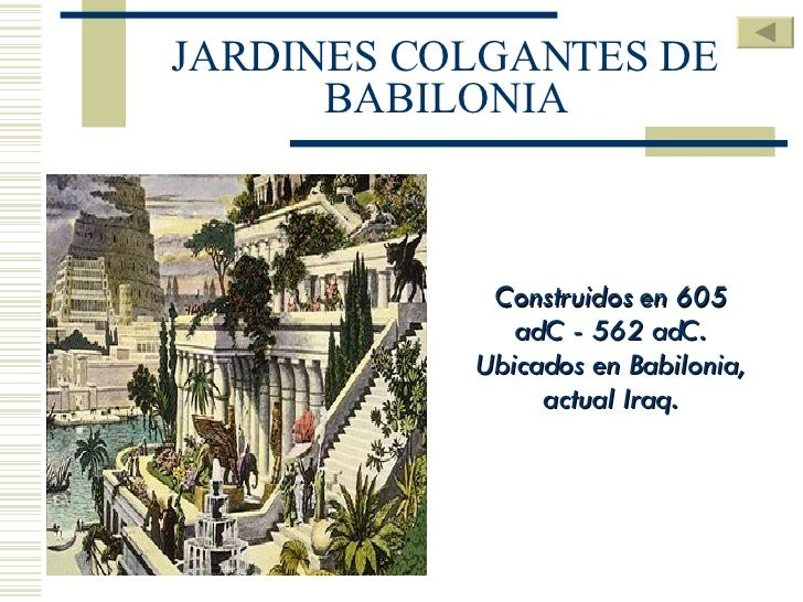 Resultado de imagen para Los Jardines Colgantes de Babilonia