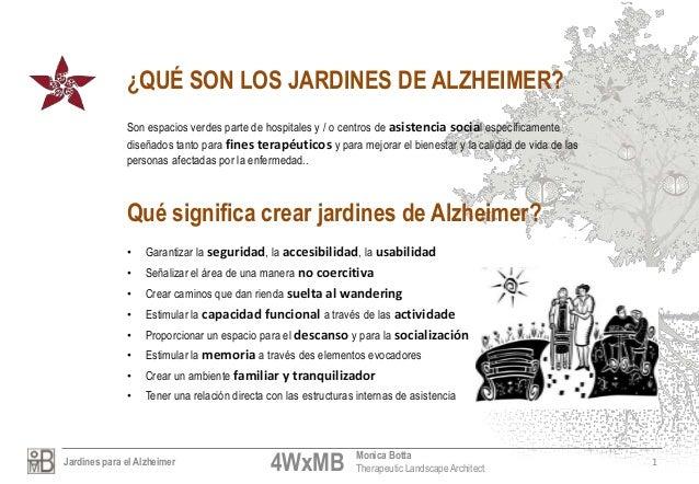 Jardines alzheimer por monica botta Slide 2