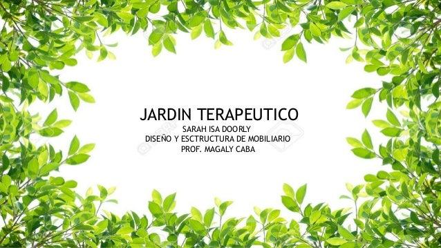 Jardin terapeutico sarah isa for Diseno de jardines pdf