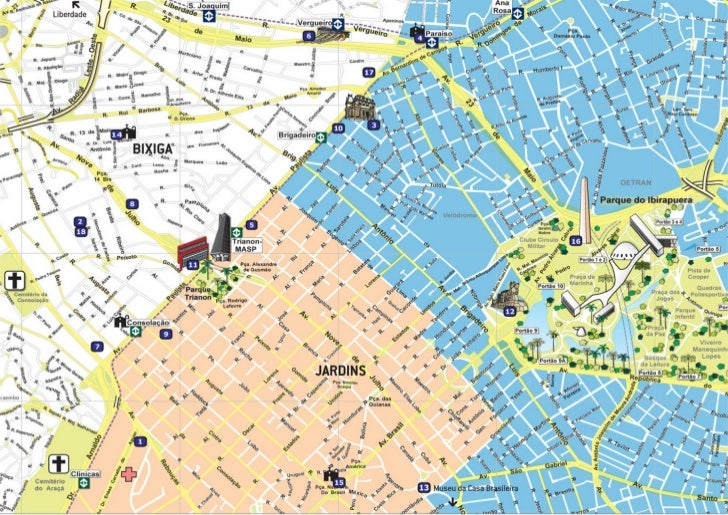 Mapa Jardins e Paulista