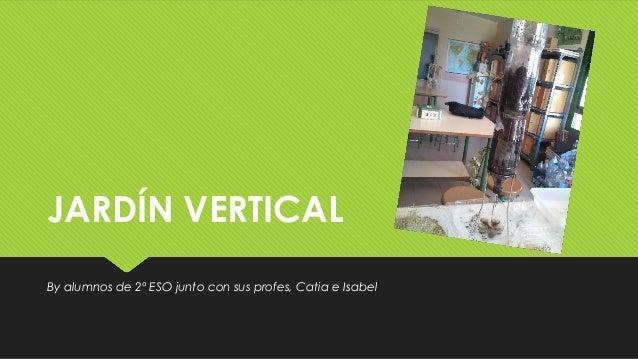 JARDÍN VERTICAL By alumnos de 2º ESO junto con sus profes, Catia e Isabel