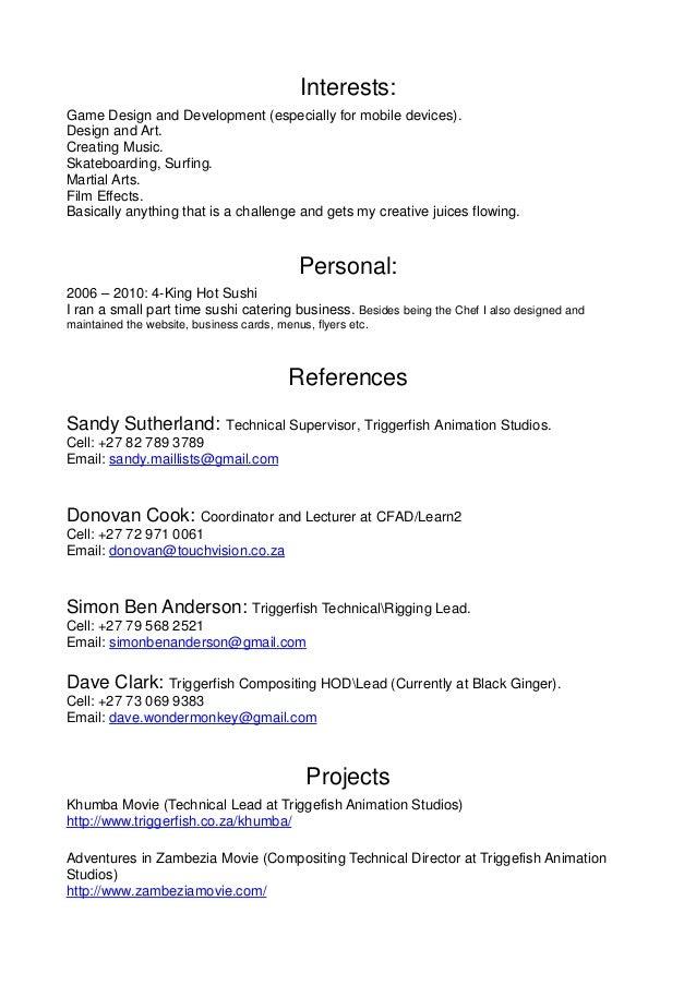 vfx compositing resume kevin herjono resume resume alison lake