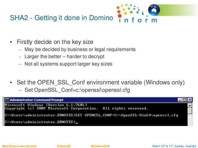 Best Practice TLS for IBM Domino