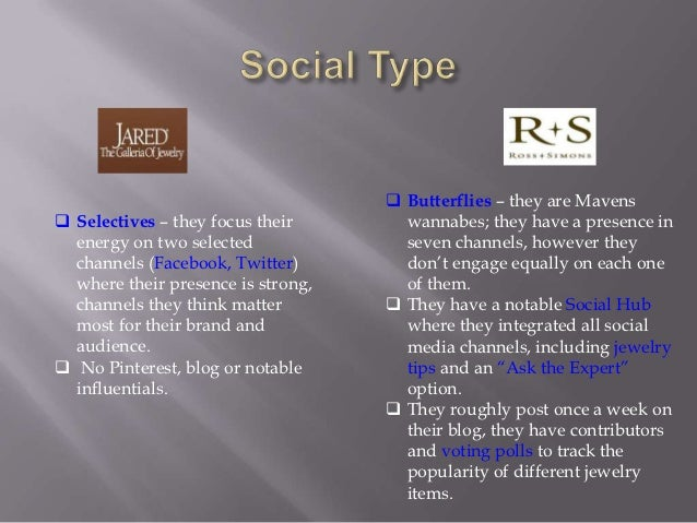 Jared vs Ross Simons Social Media Brand Comparison