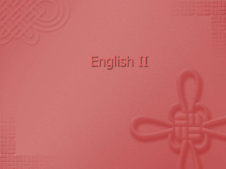 English II<br />