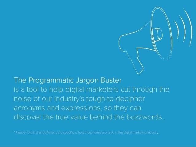 The Programmatic Jargon Buster Slide 2