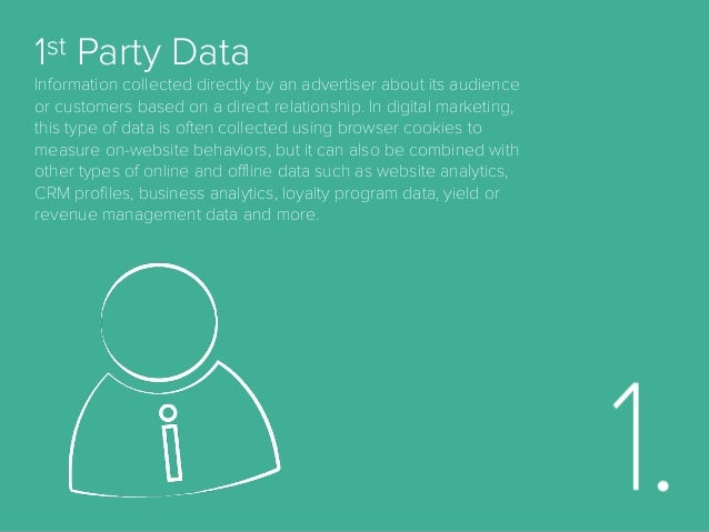 2nd Party Data In digital marketing, some have defined second-party data as data that are collected by an advertiser (ther...