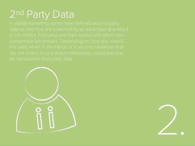 3rd Party Data Information that is collected by an entity that does not have a direct relationship with the users about wh...