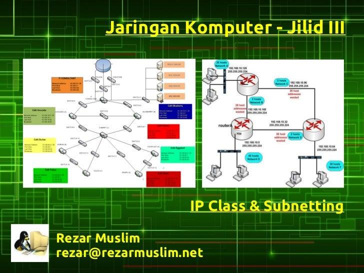 Jaringan Komputer - Jilid III                   IP Class & SubnettingRezar Muslimrezar@rezarmuslim.net