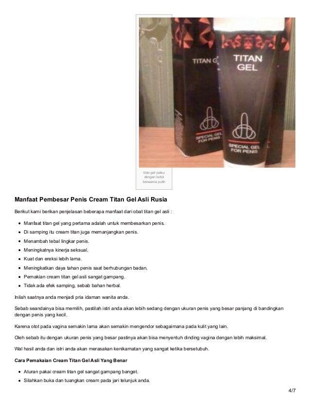 ciri ciri titan gel asli