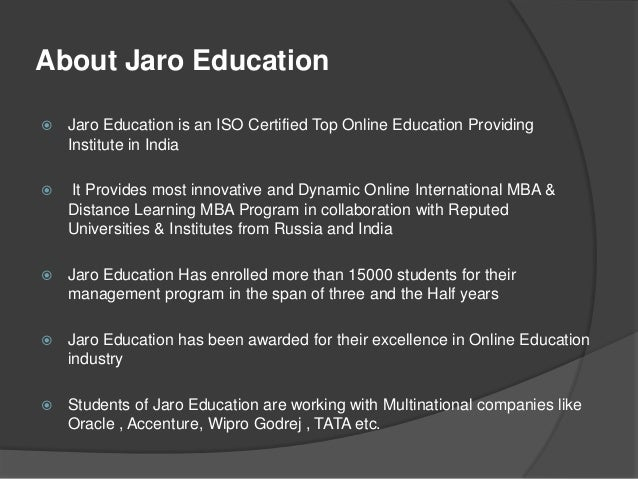 Jaro Education Amp Academic Partners