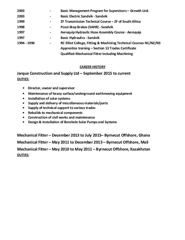 2003 - Basic Management Program for Supervisors – Growth Link 2003 - Basic Electric Sandvik - Sandvik 1999 - ZF Transmissi...