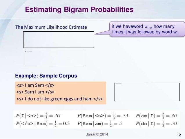 Jarrar: Probabilistic Language Modeling - Introduction to N-grams