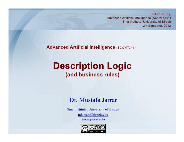 Lecture Notes,                                      Advanced Artificial Intelligence (SCOM7341)                           ...