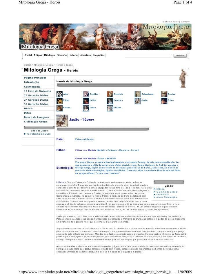 Mitologia Grega - Heróis                                                                                                  ...