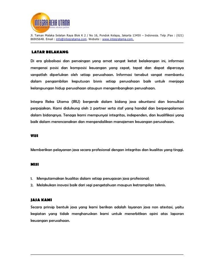 Jasa Konsultan Keuangan Dan Pajak
