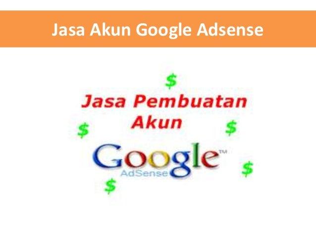 Jasa Akun Google Adsense