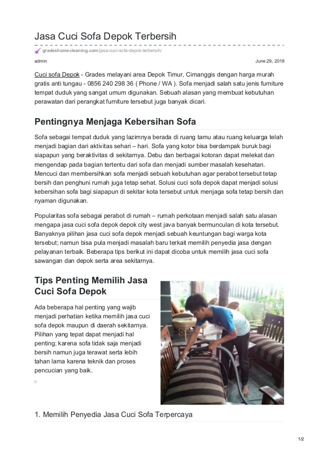 admin June 29, 2018 Jasa Cuci Sofa Depok Terbersih gradeshomecleaning.com/jasa-cuci-sofa-depok-terbersih/ Cuci sofa Depok ...