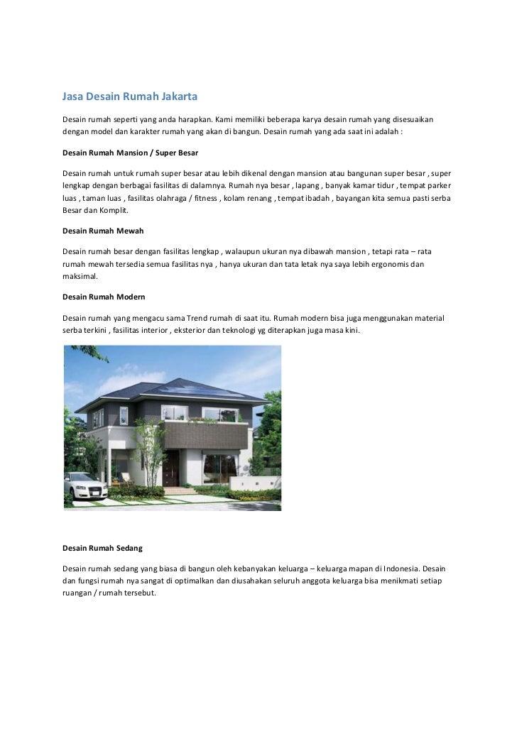 Jasa Desain Rumah JakartaDesain rumah seperti yang anda harapkan. Kami memiliki beberapa karya desain rumah yang disesuaik...