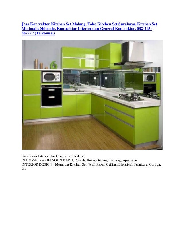 Jasa Kontraktor Kitchen Set Malang Toko Kitchen Set Surabaya Kitche