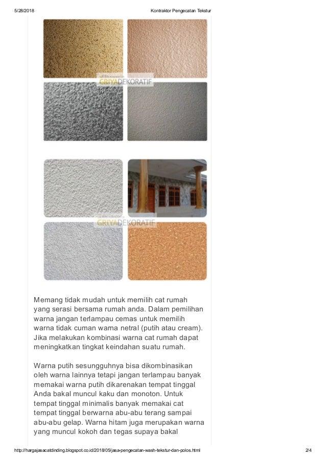 Warna Cat Rumah Netral  jasa pengecatan wash tekstur dan polos termurah