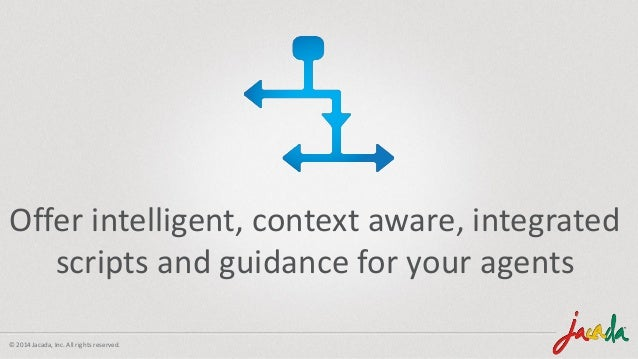 © 2014 Jacada, Inc. All rights reserved. Provide intelligent and context aware scripts and guidance to your agents