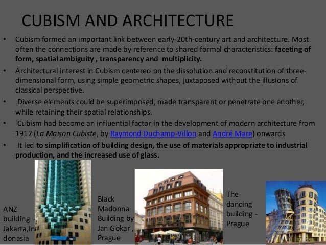 cubism , de stijl and new conception of space De Stijl Architecture