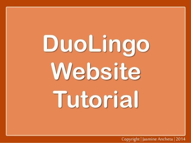 DuoLingo Website Tutorial