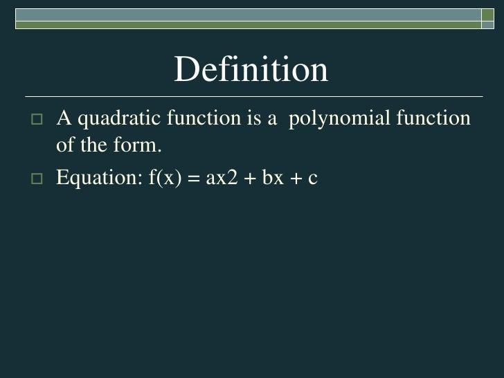 quadratic function by jasmine amp cristina