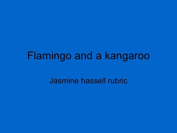 Flamingo and a kangaroo Jasmine hassell rubric