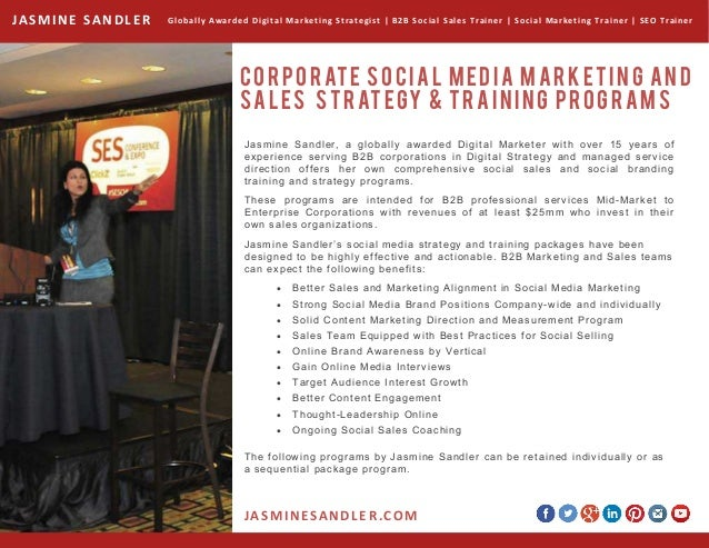 Jasmine Sandler, a globally awarded Digital Marketer with over 15 years of experience serving B2B corporations in Digital ...