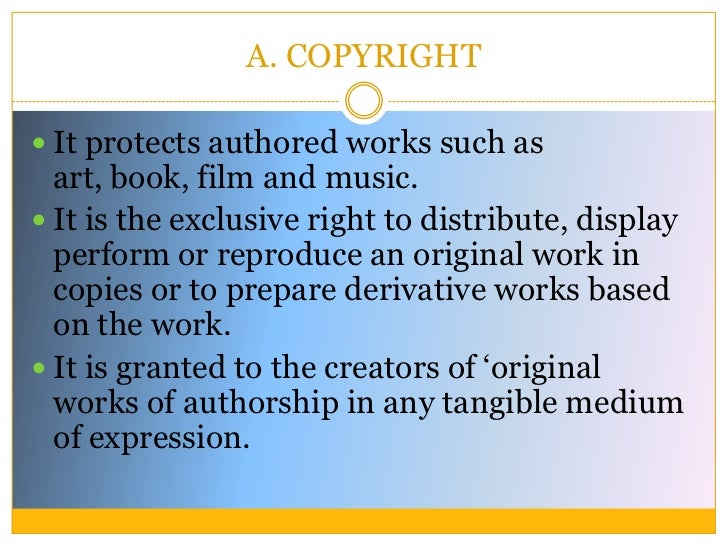 Intellectual Property Law Is A Body Of Law That Includes