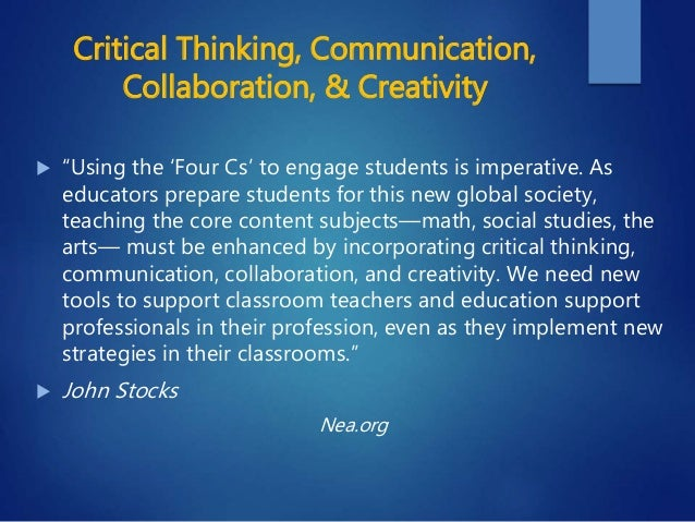 importance critical thinking education Fgjkl international journal of environmental & science education vol 3, no 3, july 2008, xx-xx developing critical thinking skills in students.
