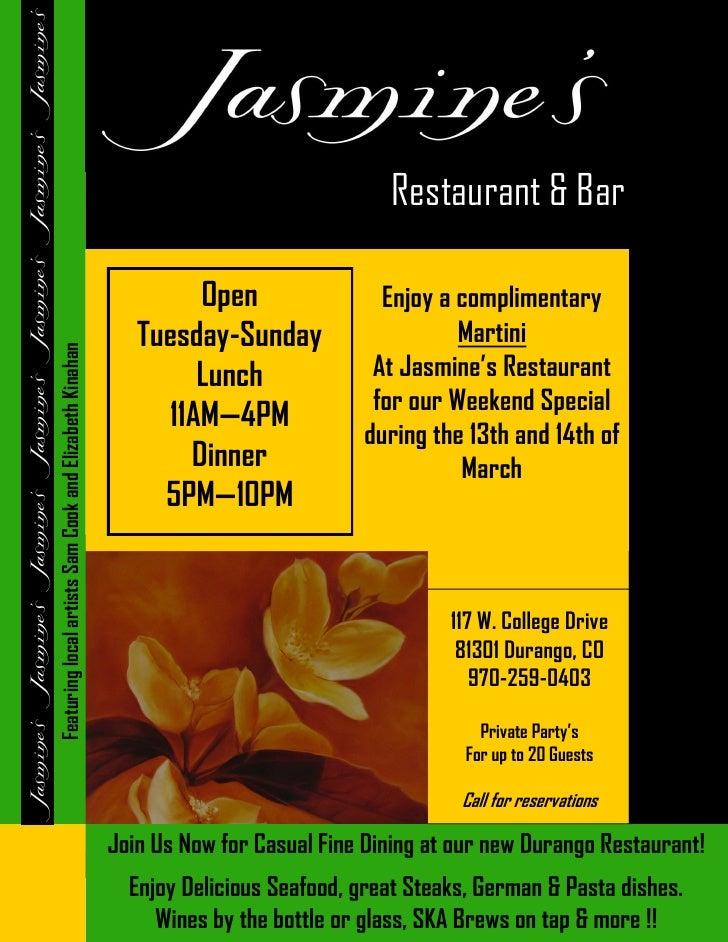 Restaurant & Bar                                                                   Open                 Enjoy a compliment...