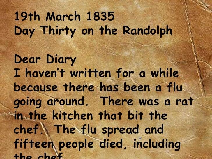Early Settler Diary Jason
