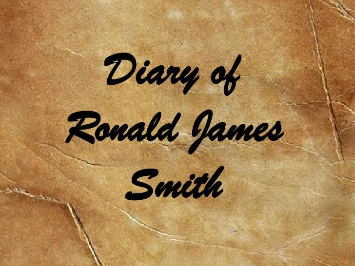 Diary of Ronald James Smith<br />