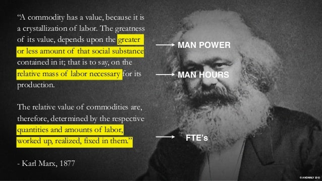 """MAN POWER FTE's MAN HOURS """"A commodity has a value, because it is a crystallization of labor. The greatness of its value, ..."""