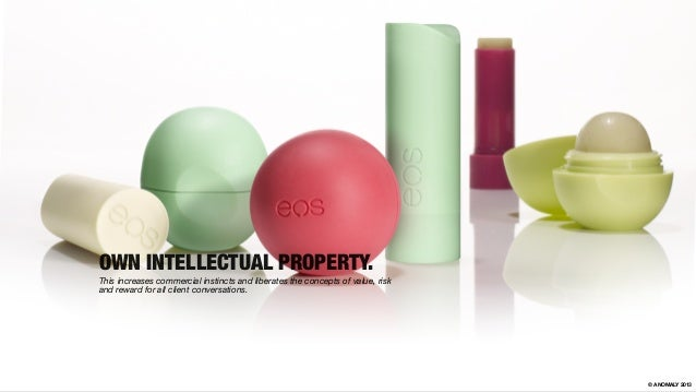 OWN INTELLECTUAL PROPERTY. This increases commercial instincts and liberates the concepts of value, risk and reward for al...