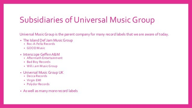 Universal Music Group and XL Recordings- by Jason and Elma at LSC