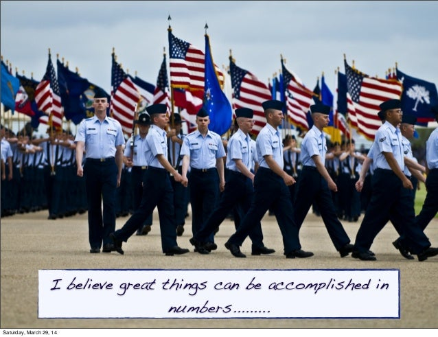 I believe great things can be accomplished in numbers......... Saturday, March 29, 14