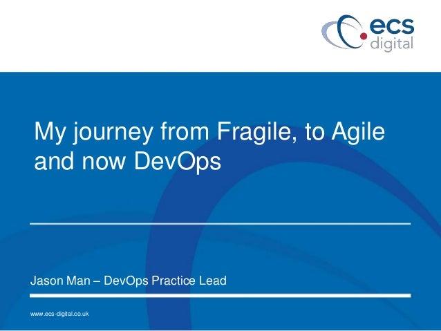 www.ecs-digital.co.uk My journey from Fragile, to Agile and now DevOps Jason Man – DevOps Practice Lead