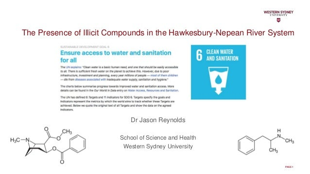PAGE 1 The Presence of Illicit Compounds in the Hawkesbury-Nepean River System Dr Jason Reynolds School of Science and Hea...