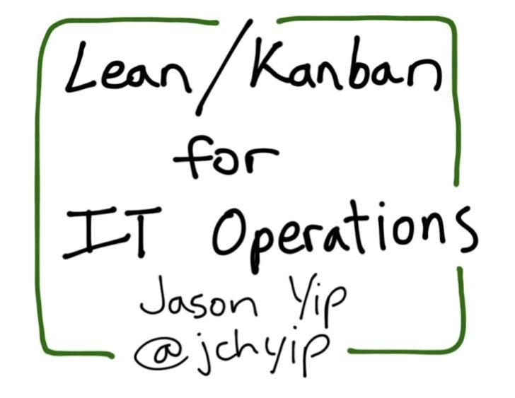 Jason yip   kanban for it operations