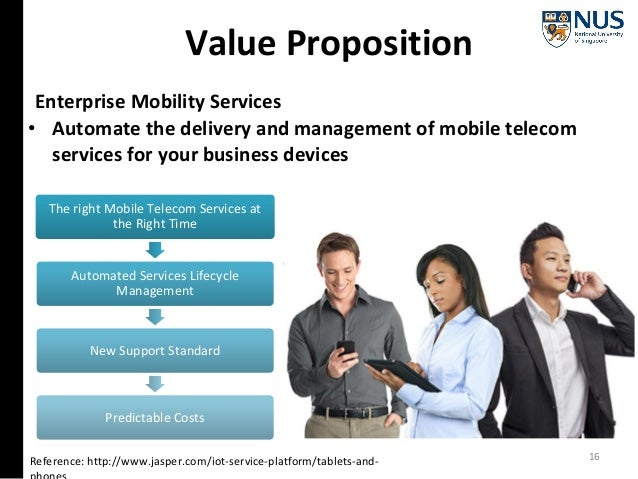 Value Proposition Reference: http://www.jasper.com/iot-service-platform/tablets-and- Enterprise Mobility Services • Automa...
