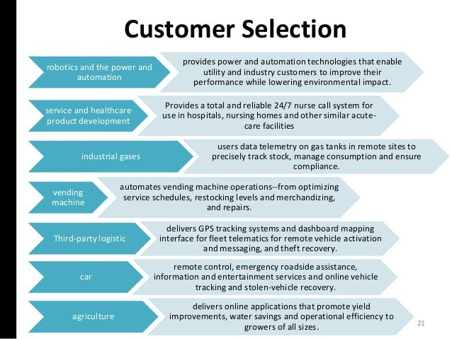 Customer Selection 21 robotics and the power and automation provides power and automation technologies that enable utility...
